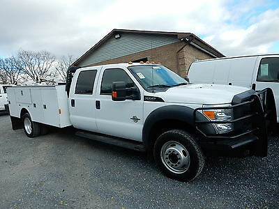 2012 Ford F550 Crew Cab 4X4 11' Utility Service Body 6.7 Litre Diesel 41K Miles