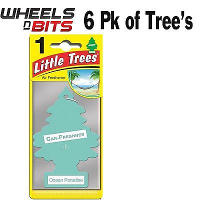 6x Magic Tree Little Tree Ocean Paradise Scent Fragrance Car Van Air Freshener