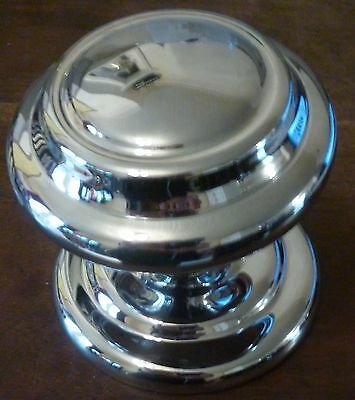 Large Solid Quality Polished Chrome Front Door Centre Knob