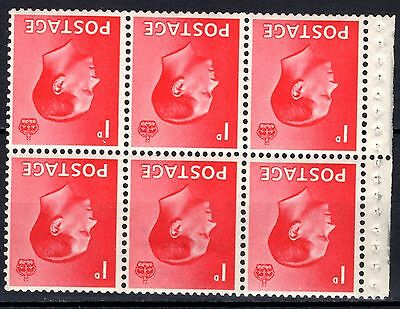 (646) VERY GOOD EDVIII 1d INVERTED BOOKLET PANE (sg458Wi) LIGHTLY M.MINT