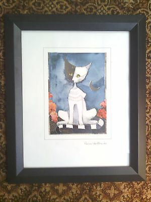 Rosina Wachtmeister Framed Cat Picture