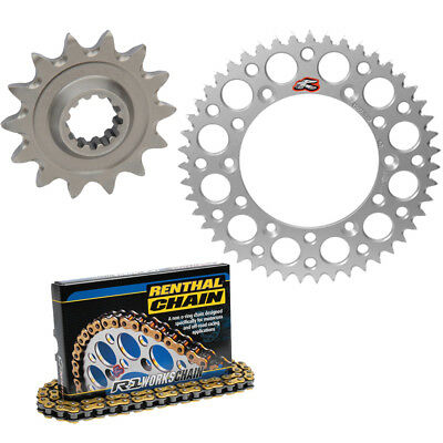 Renthal 420 Chain & 14-48 Sprocket Kit Silver For 2011-2015 KTM 65 SX