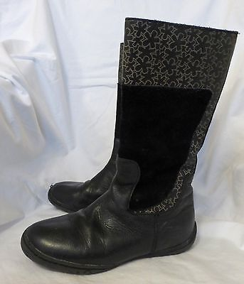 Girls Boots Umi Contessa Size 33 (US 1.5) Leather Black