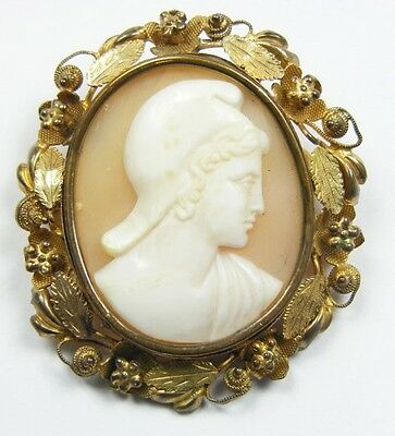Classical God Cameo Brooch in Pinchbeck Frame