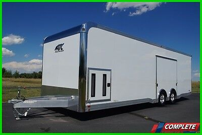 ATC 8.5x28 405 All Aluminum 405 Premium Escape Door Trailer: Spoiler Insulated