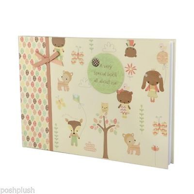 Woodland Leaves And Creatures Baby Book. Baby Shower,Christening, Christmas Gift