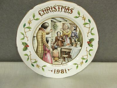Aynsley Christmas Plate - 1981 - The Cratchit Family