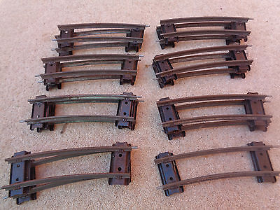15 Pieces Hornby O Gauge Short / Half Length Corners / Curves / Curved Track