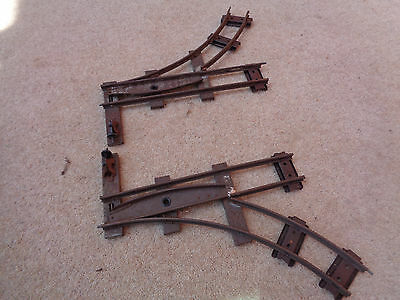 Pair Of Hornby O Gauge Points - Left And Right Hand Tracks  Pr1 Pl1
