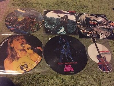 Bundle Off Vinyl Picture Discs Wasp Meat Loaf Iron Maiden Etc
