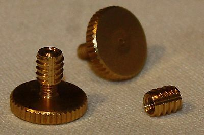 Concertina Parts - Set of  Knurled Brass 13mm  Hand Strap Screws