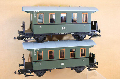 PIKO G SCALE 2 x DR GREEN 2 3 CLASS LOCAL PASSENGER COACH Compatible with LGB