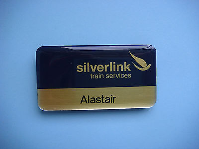 silverlink trains services railway badge for Alastair