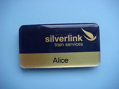 silverlink trains services railway badge for Alice