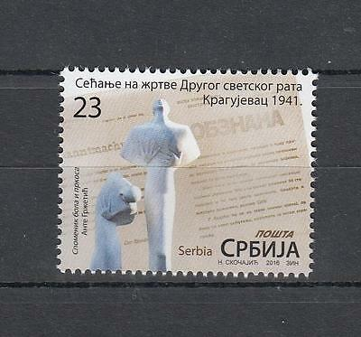 Serbia Serbien 2016  MNH** Lot 740 Memory of Victims of WWII