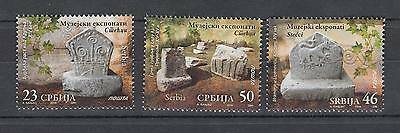 Serbia Serbien 2016  MNH** Lot 741-743 Museum Exhibits