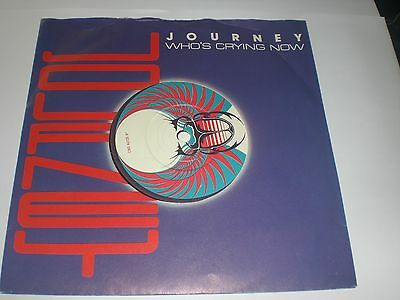 Single Journey - Who's Crying Now - Cbs Uk 1982 - Vg+