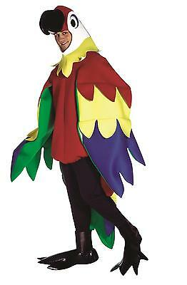 Adults Deluxe Parrot Costume Mens Ladies Colourful Animal Stag Do Fancy Dress