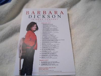 Barbara Dickson In Good Company With Full Band 2017 Tour.promo Flyer/leaflet