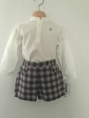Boys Spanish Shirt And Shorts Set Traditional Romany Style Ages 2 3 Years.