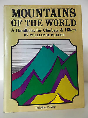 1970 MOUNTAINS OF THE WORLD 1st Ed Handbook for Planning Expeditions 43 b/w MAPS