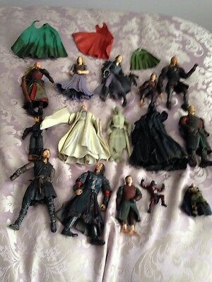 Large Collection Of 16 Lord Of The Rings Figures And 2001-2003 Marvel Ent Inc