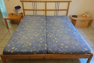 ikea doppelbett 1 80 x 2 m 2 matratzen taschenfederkern eur 120 00 picclick de. Black Bedroom Furniture Sets. Home Design Ideas