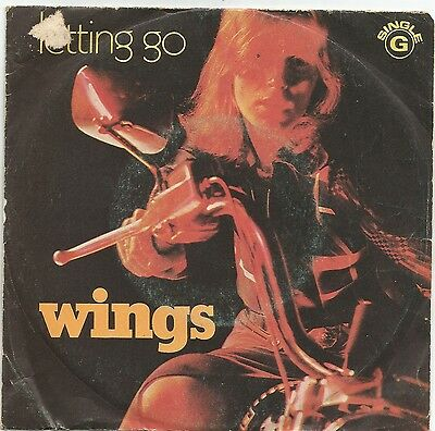 """WINGS letting go / gave me the answer 7"""" 45 Portugal PS Beatles Paul McCartney"""