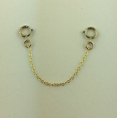 """Yellow Gold Filled 1/20 Fine Trace Safety  Chain extenders 2"""" to 8"""""""