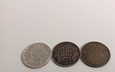 India - Lot Of Rupee Coins, Very Old - 3 Rulers, Rare