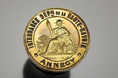 French military interest suppliers to Annecy 19thc desk wax seal