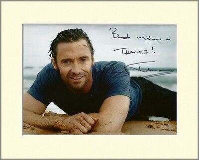 Hugh Jackman X-Men Les Miserables Pp Mounted 8X10 Signed Autograph Photo