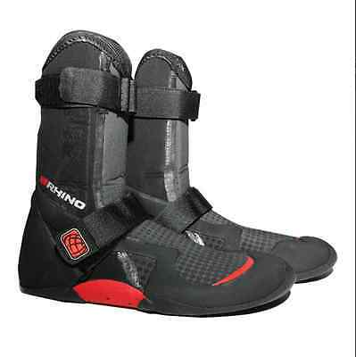 RHINO 'Force' Technical Round Toe Wetsuit Boot 5MM - Black/Red