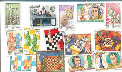 Chess on Stamps collection 100 different-