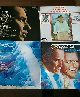 4 Frank Sinatra Vintage Vinyl Lp Records In Excellent Condition
