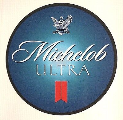 """Michelob Ultra Beer 7"""" Diameter Metal Sign - New - Free Shipping"""