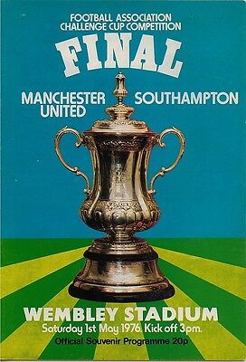 MANCHESTER UNITED v SOUTHAMPTON FA CUP FINAL 1976
