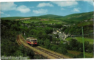 Laxey Valley and Snaefell, Manx Electric Railway, colour postcard, unposted