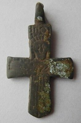 Viking period bronze cross psevdo enkolpion 900-1300 AD VF++