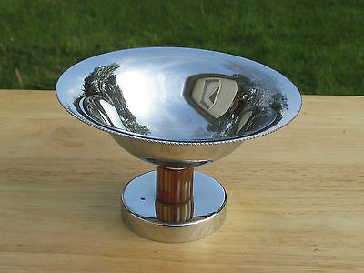 "Farber Brothers Farberware Art Deco Chrome 3.25"" Compote, Brooklyn NY"