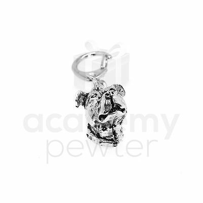 Academy Pewter 'Staffordshire Bull Terrier (Staffie)' Keyring (UK Hand Crafted)