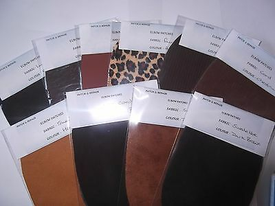 Assorted Browns Fabric Elbow / Patches / Trimmings In Choice Of 10 Colours