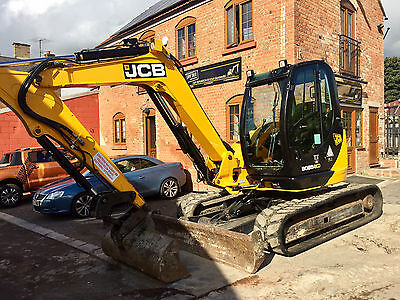 2012 Jcb 8085 Zts Eco Excavator Digger Hydraulic Hitch 3 Buckets Aircon Serviced