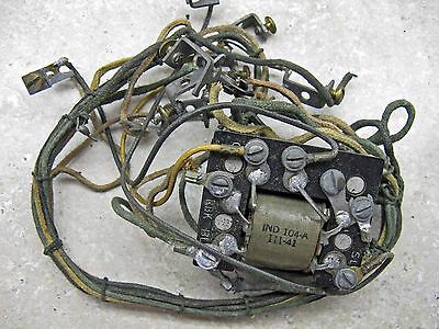 W. E. Oak Wall Phone Coil (Ind 104-A - 111-41) & Wire Harness.