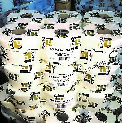 2 Ply Mini Jumbo Toilet Roll Pure Soft not recycled Wholesale GB made @Low Price