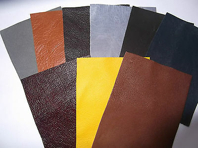 """4""""x3"""" 100% Leather Remnant Repair Patches - Buy 2 Get 1 Free - Assorted Colours"""