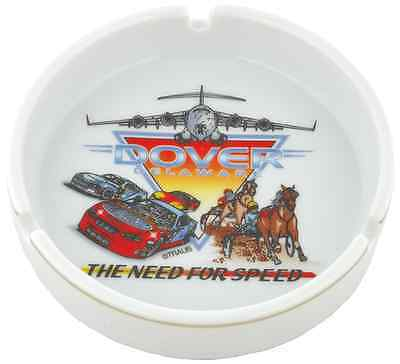 """Delaware  souvenirs Ashtray / 5"""" Round - Dover Need for Speed"""
