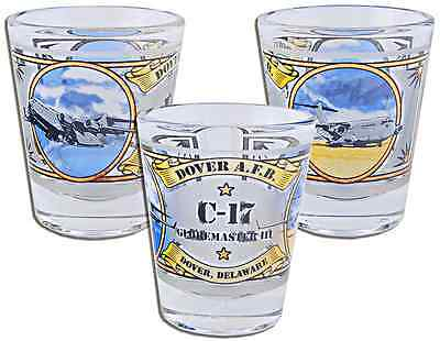 Delaware  souvenirs Shot Glass / Frosted - Dover AFB
