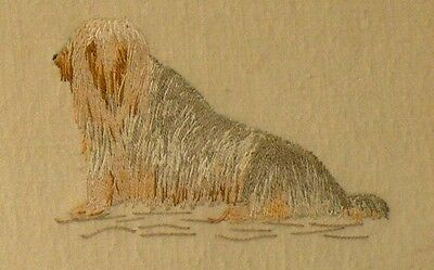 Lhasa Apso Embroidered On Silk Picture ~Vintage ~ Dog