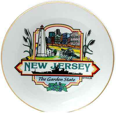 """New Jersey  souvenirs  Plate / 8"""" Porcelain - New Jersey Montage"""